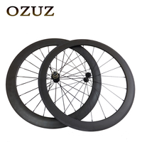 Powerway R13 Hub 424 Spokes OZUZ 50 60mm Carbon Wheels Road Bike Bicycle Clincher With Alloy