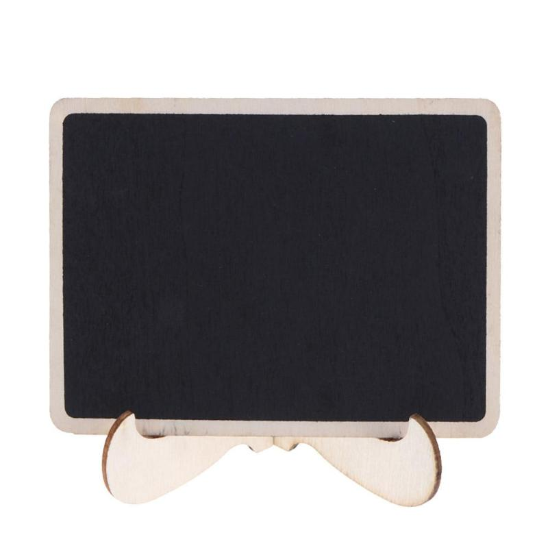 DIY Assembled Mini Blackboard Wooden Message Chalkboard Wedding Party Decor Labels Wood Chalkboard School Office Supplies