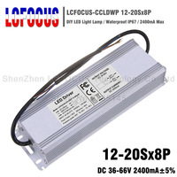 High Power 96W 120W 136W 160W LED Driver 12 20Sx8P Waterproof 2400mA 36 66V 2.4A For COB Chip Lighting Transformers Power Supply