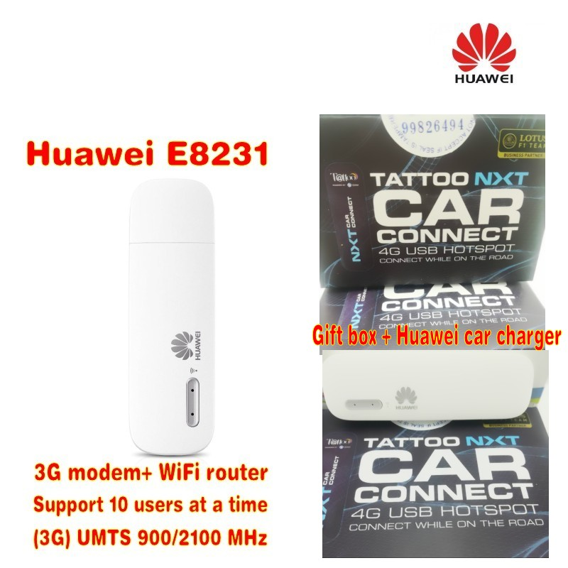 Unlocked HUAWEI E8231 3G 21Mbps WiFi dongle 3G USB wifi modem car Wifi Support 10 Wifi  users