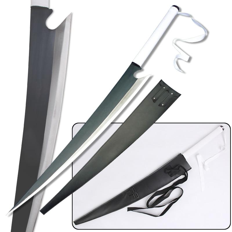 Ichigo Sword Bleach Anime Dual Wield Blade Zangetsu Kurosaki Real Steel Cosplay Props Decorative Supply-42.25 Length
