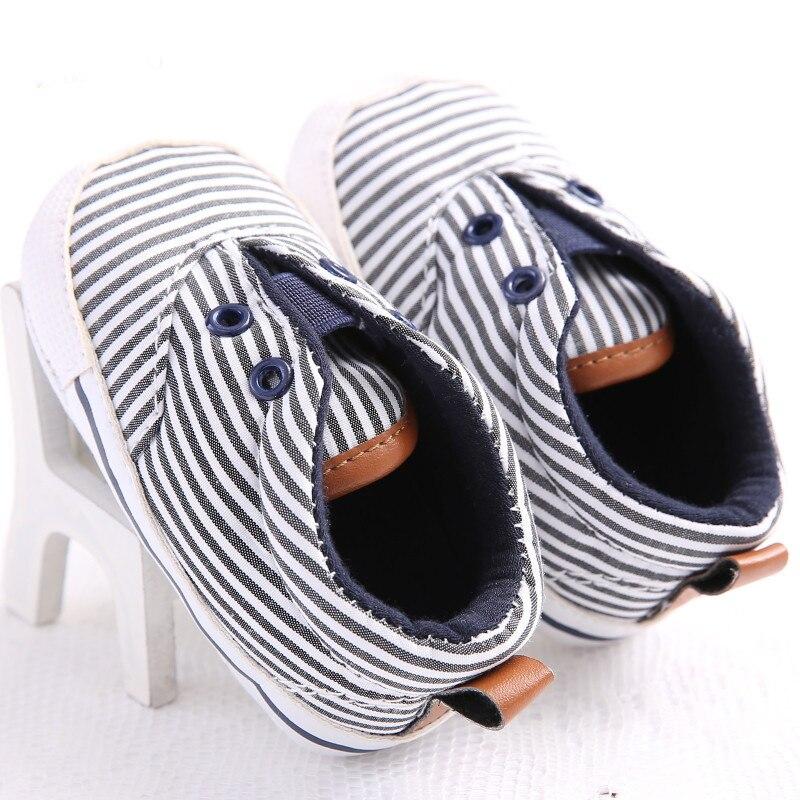 Venta caliente Rayas Zapatos de Bebé Bebés Niño Recién Nacido Zapatos Suaves Pri