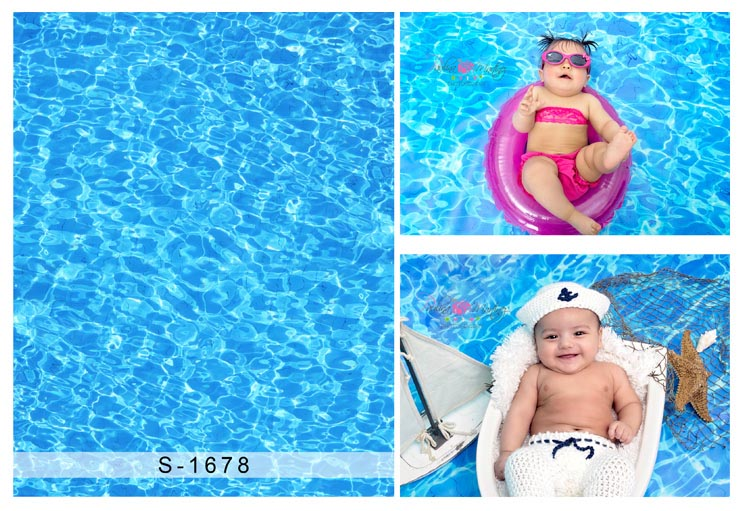 Comophoto Photo Studio Backdrop Background Newborn baby shower Photography Props Swimming Pool Photo backdrop S-1678