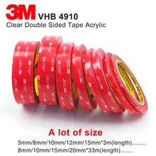 Ясный 3M акриловая, VHB клейкая лента 1,0 мм толщиной, 3 м 4910 высокотемпературная прозрачная акриловая поролоновая лента, мы можем предложить любой размер