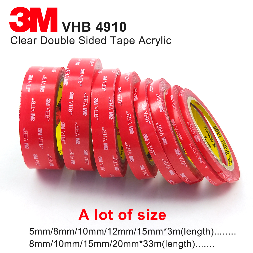 Clear 3M VHB Acrylic Foam Tape  1.0MM Thick,3M 4910 High Temperature Transparent Acrylic Foam Tape ,we Can Offer Any Size