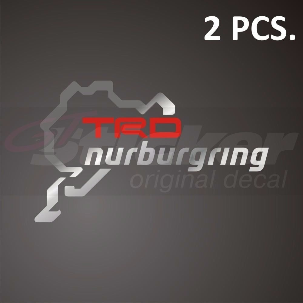 Logo 12.8x7.7cm Reasonable 2pcs/pair Trd Nurburgring Decal Sticker Sticker Classic Toys
