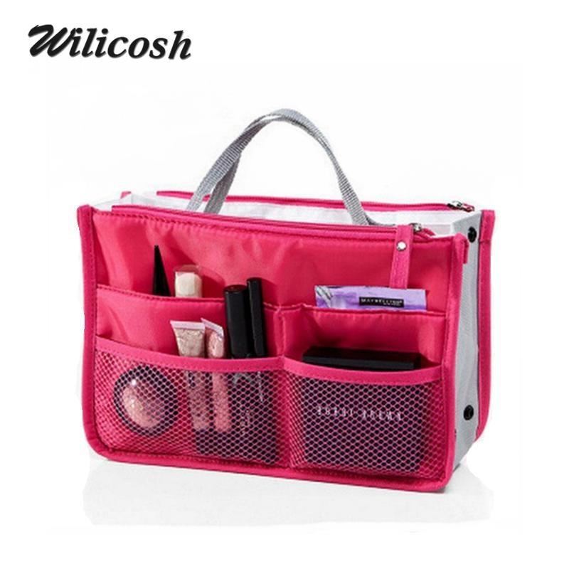 2017 Multifunction Nylon Makeup Organizer Bags For Women Cosmetic Bags Toiletry Kits Women Travel Bags Ladies Bolsas DB5403