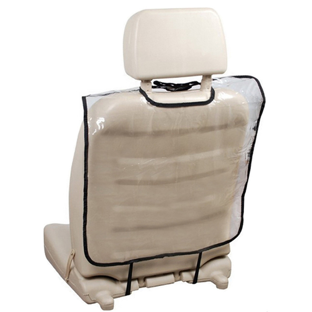 Transparent Car Seat Back Protector Dust-proof Children Kick Mat Protects From Mud Dirt waterproof Seat Covers