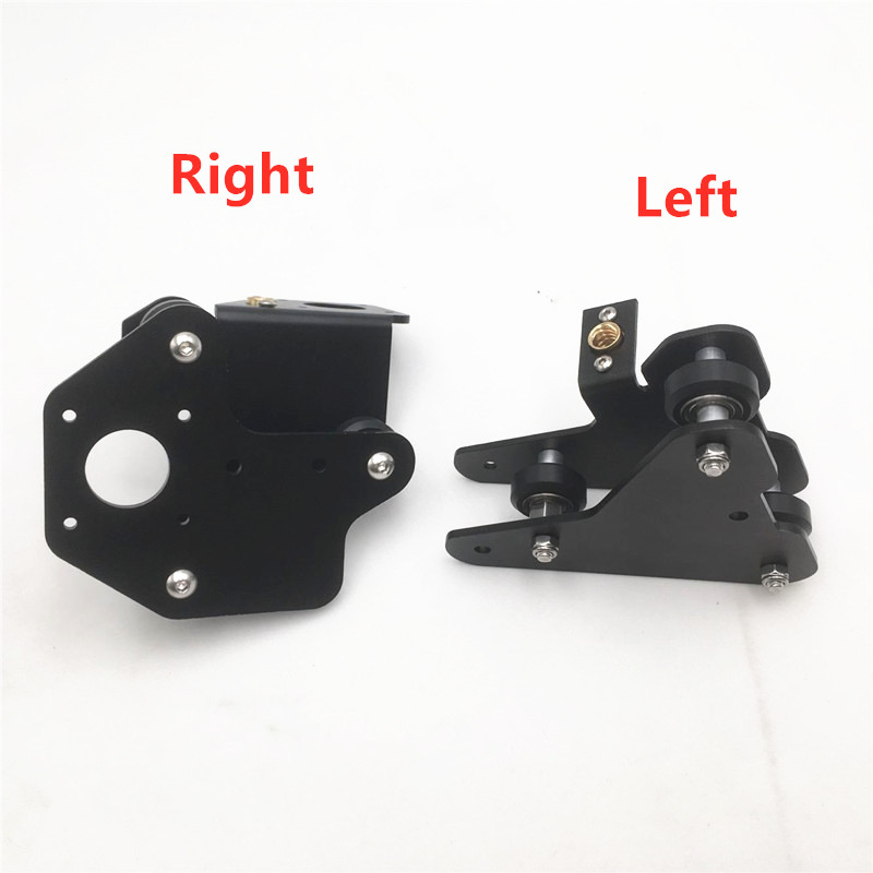 1pcs 3D Printer Parts CR-10 S4/S5 X Axis Motor Mount Bracket Right/left X-axis Front/Back Motor Mount Plate With Wheels T Nut