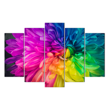 Artwork Poster HD Prints Home Decoration 5 Pieces Flower Wall Art Living Room Pictures Canvas Painting Abooly Free Shipping