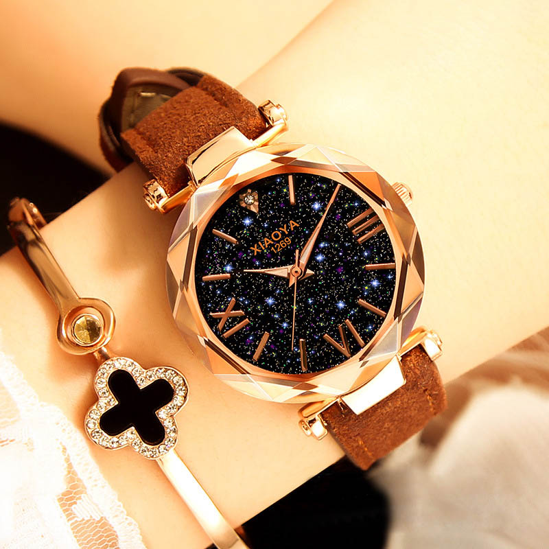 Women's Watches 2018 Luxury Ladies Watch Starry Sky Watches For Women Fashion Montre Femme Diamond Romantic Reloj Mujer Saat sinobi luxury diamond watch women watches metal mesh ultra thin women s watches ladies watch clock saat montre femme reloj mujer