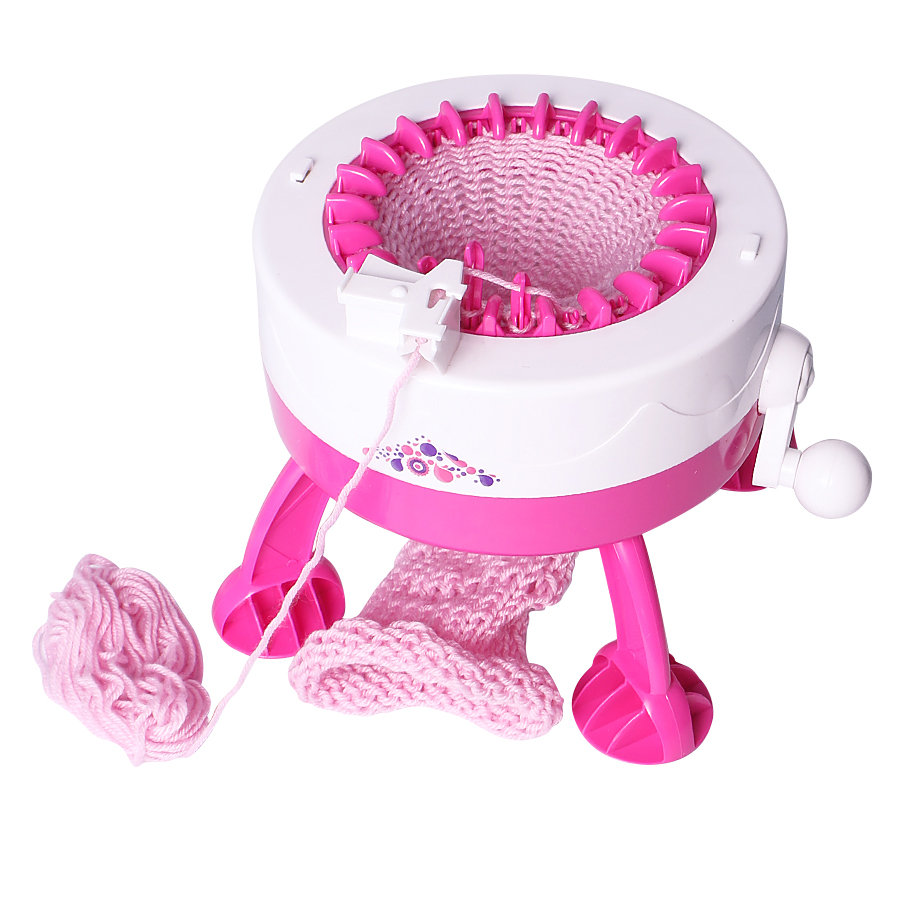 DIY Knitting Loom Machine Girls Weaving Loom knit for Scraf Hat DIY Smart Knitter Toy For Girls Kids Children цена и фото