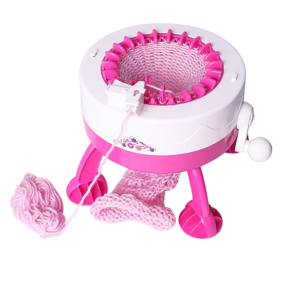 DIY Knitting Loom Machine Girls Weaving Loom Knit For Scraf Hat DIY Smart Knitter Toy For Girls Kids Children