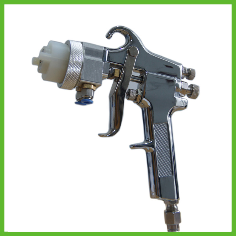 цена на SAT1182 Mirror Chrome Paint Gun Air Brush Adjustable Air Pressure Regulator Spray Gun gun to paint cars Airbrush Spray Foam Gun