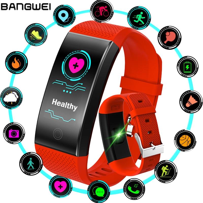 BANGWEI Nouvelle Montre Smart Watch Femmes sport Intelligente Bracelet Bracelet Coeur Taux La pression Artérielle Moniteur de Remise En Forme Femmes Bande À Puce