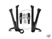 Black Motorcycle Rear Passenger Foot Pegs Footrest Bracket Kit Motor Foot Rest Pedal Case For Suzuki