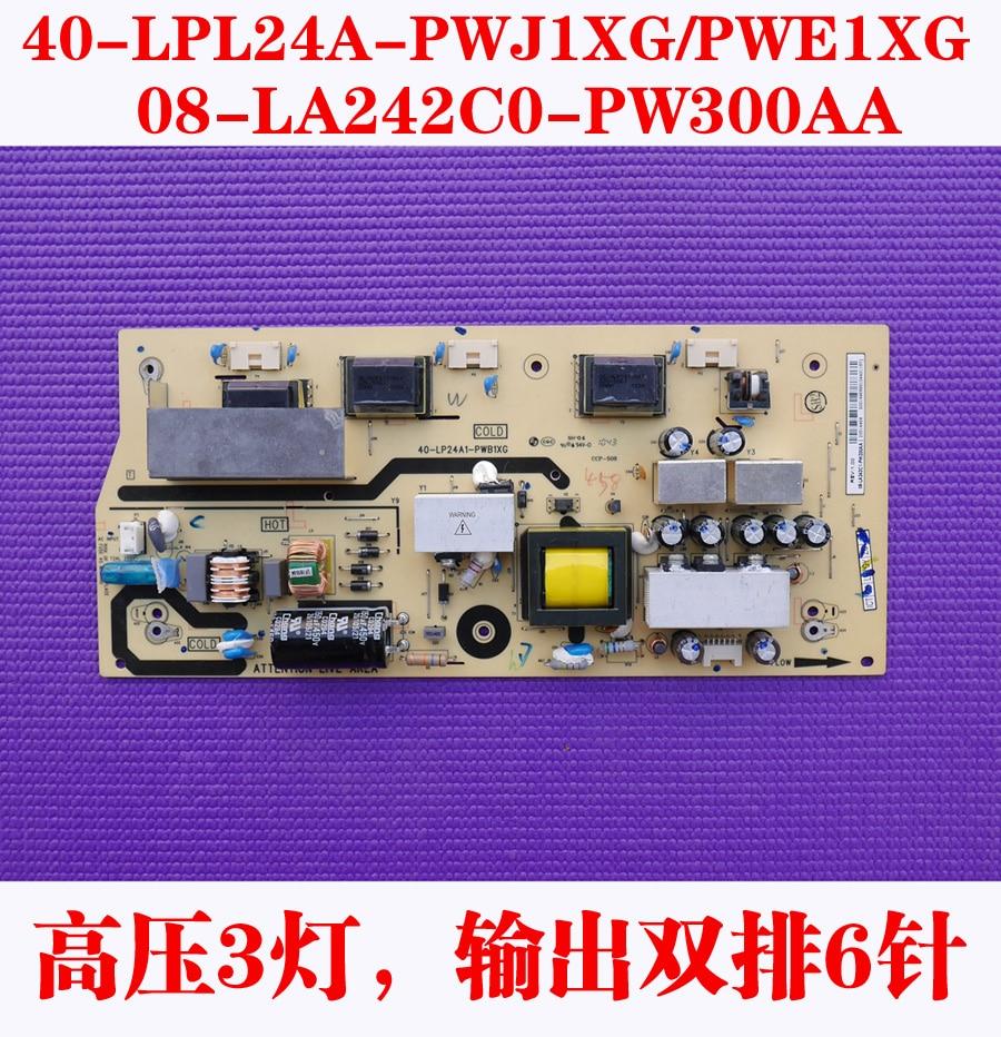 ФОТО Free Shipping>Original 100% Tested Working L24F19 40-LP24A1-PWA1XG 08-LA242C1.PW200AA  power supply high voltage board