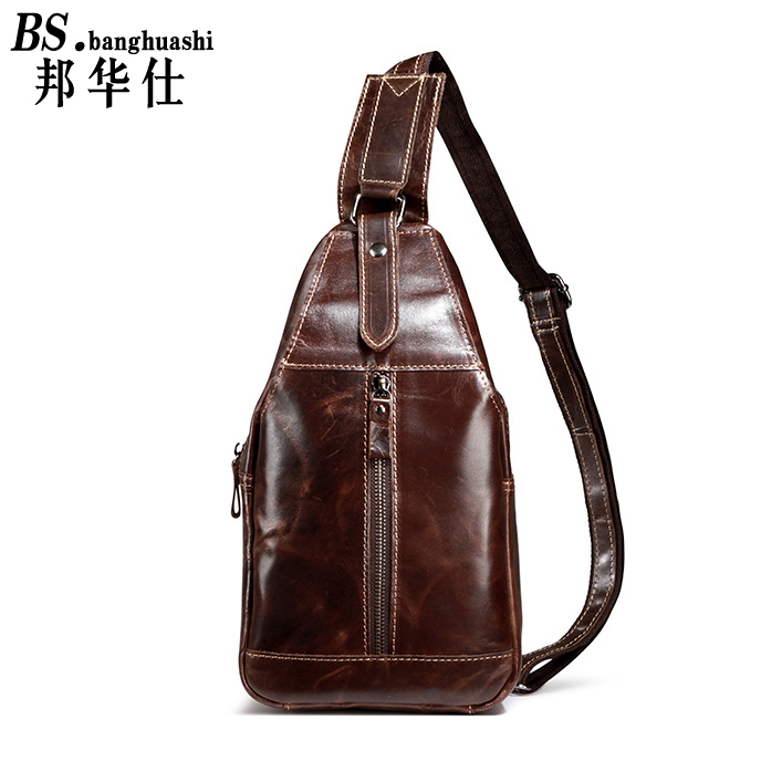 2016 new men 's First Layer of Leather Shoulder bag Retro Messenger bag men' s bag retro men s bags shoulder shoulder diagonal men s pockets leather men s casual shop men s leather bag