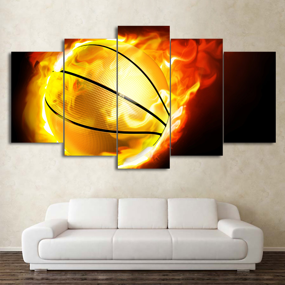 Modern Home Wall Art Decor Frame Modular Pictures 5 Pieces Abstract ...