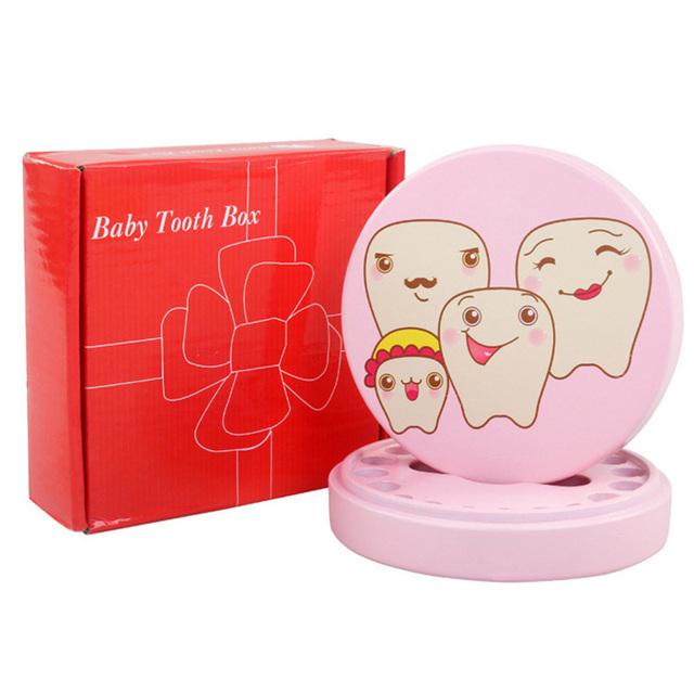 Caixa de Dente De Madeira Do Bebê do bebê Da Família Primeiro Dente dente Lembrança Caixa Organizador Caixa de Fada do Dente para Crianças Presentes de Aniversário MJ16618T