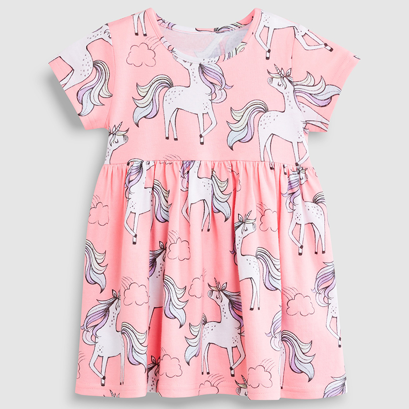 New Unicorn Child Women Costume Informal Princess Clothes Youngsters Clothes Quick Sleeve 100% Cotton Youngsters Garments Lady Costume 2019