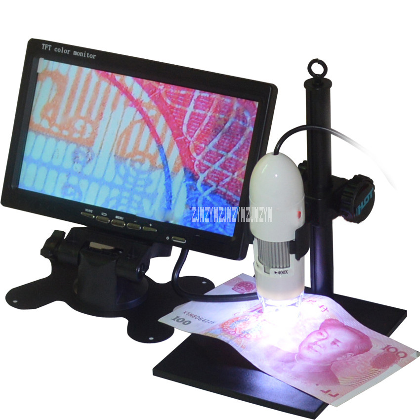 New Arrival Digital Microscope TV Output High Definition Video Microscope Electronic Magnifier 25-400 times(manually adjustable)