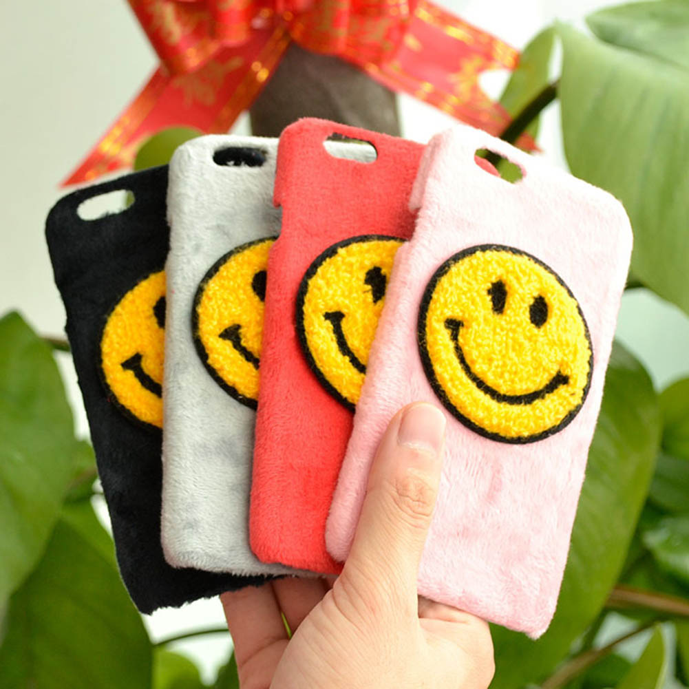 Plush Smile Anti-Knock Shockproof Phone Case Capa For IPhone7 Phone Protection Drop Shipping