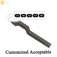 CSJA 375 585 750 916 999 Gold Ring Bracelet Jewellery Making Tool Mark Stamp Punch Customize Logo Metal Steel Mold E258