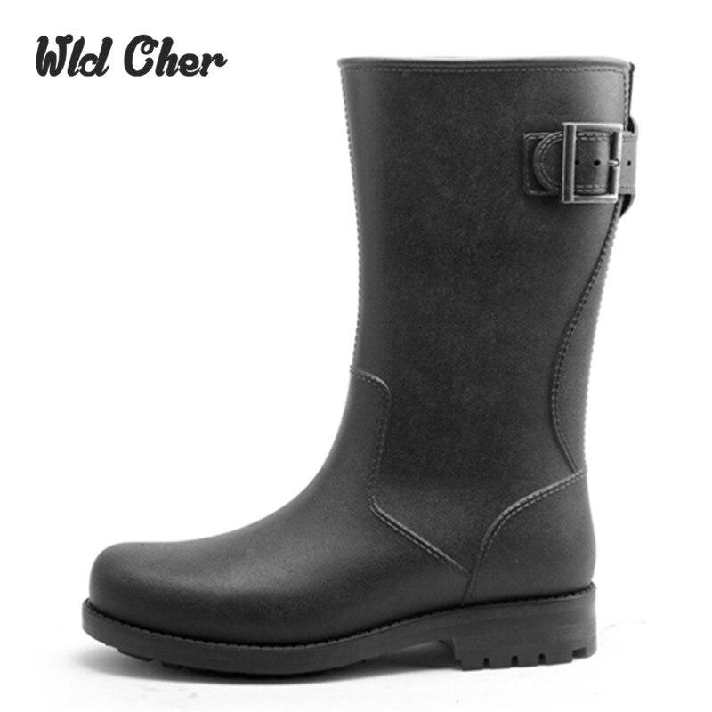 Freeshipping Best Selling Men Lady Fashion New Arrival High Rainboots Fashion Men's Casual Rain Boots Elegant Shoe 39-45