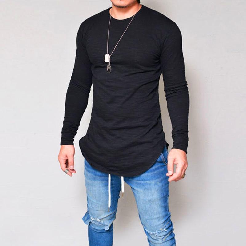2019 ősz Új kibővített hip-hop utcai póló nagykereskedelmi divat márka t-ing férfiak nyári hosszú ujjú túlméretezett