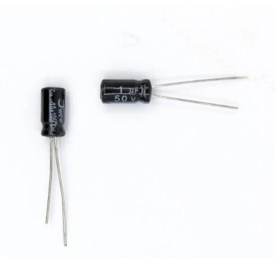 1 uF 50 Volt Radial Capacitor 50 pcs