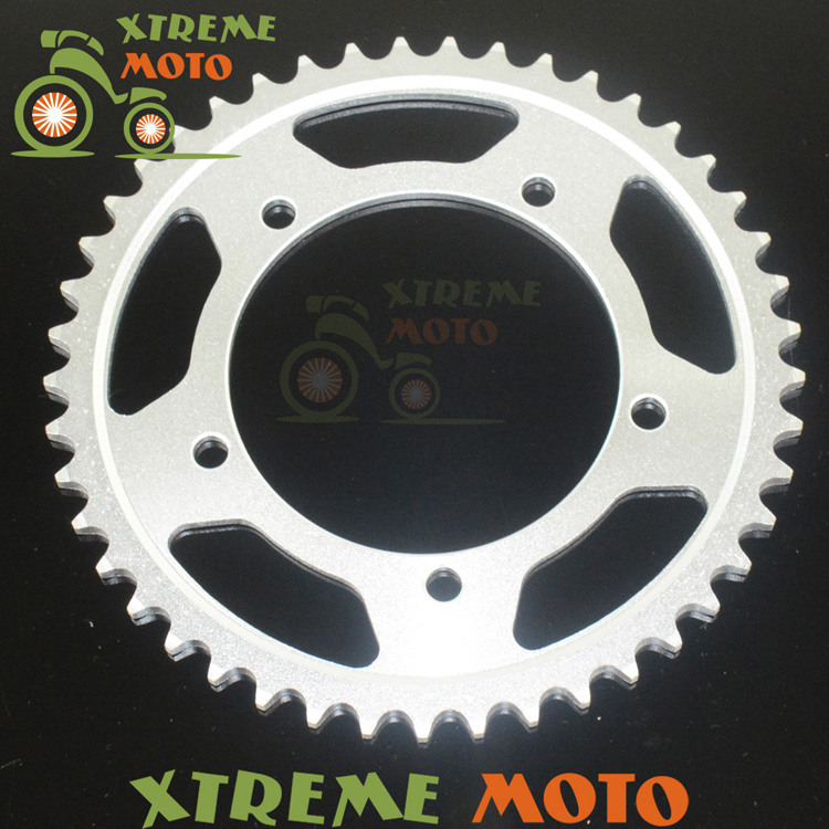 45T Rear Sprockets For Suzuki DL1000 GSR750 GSX-R750 GSX-R1000 GSX-R600 DL650 GSR600 KLV1000 600TT 650 Daytona Motocross Enduro
