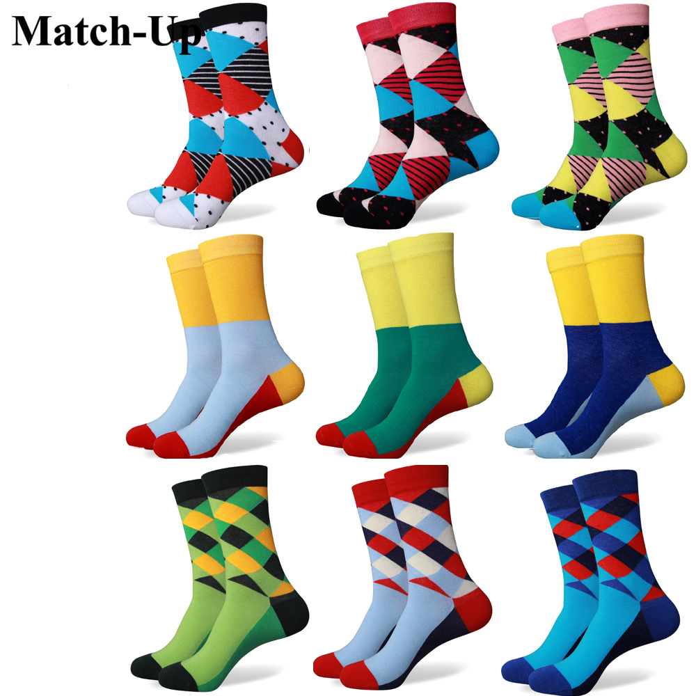 Match Up Men colorful cotton socks a lot of new styles