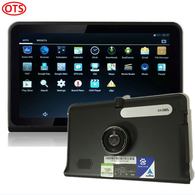 7 inch GPS Android GPS Navigation DVR Video Recorder 8GB Allwinner A33 Quad Core FM Transmitter Tablet Pad Style Free Map Update
