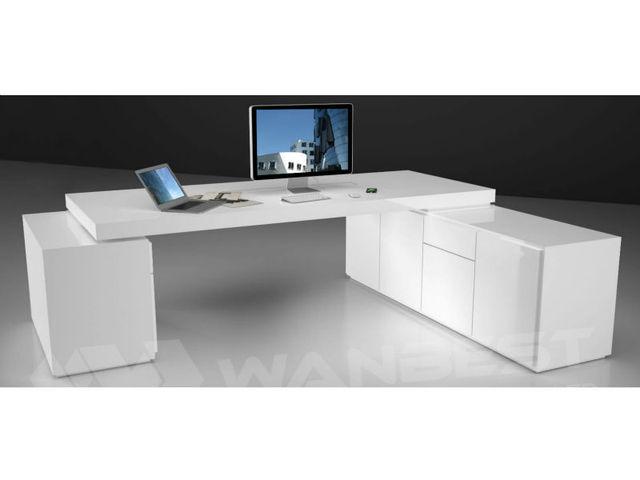 Fabulous Mdf met lak schilderen kantoor l vorm bureau in Mdf met lak FU37
