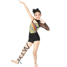 MiDee Acrobat Dance Costume Jazz Jumpsuit Gymnastic Outfits Competition Wear Unitard Polo Clothing