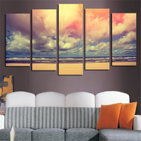 5 Planes Wall Art Modern Painting Landscape Colorful Cloud Canvas Pictures Posters And Printed Home Decoration For Room Unframed