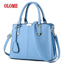 Women Bag Leather Handbag Top-handle Solid Ladies Shoulder Casual Large Capacity Totes Famous Brand