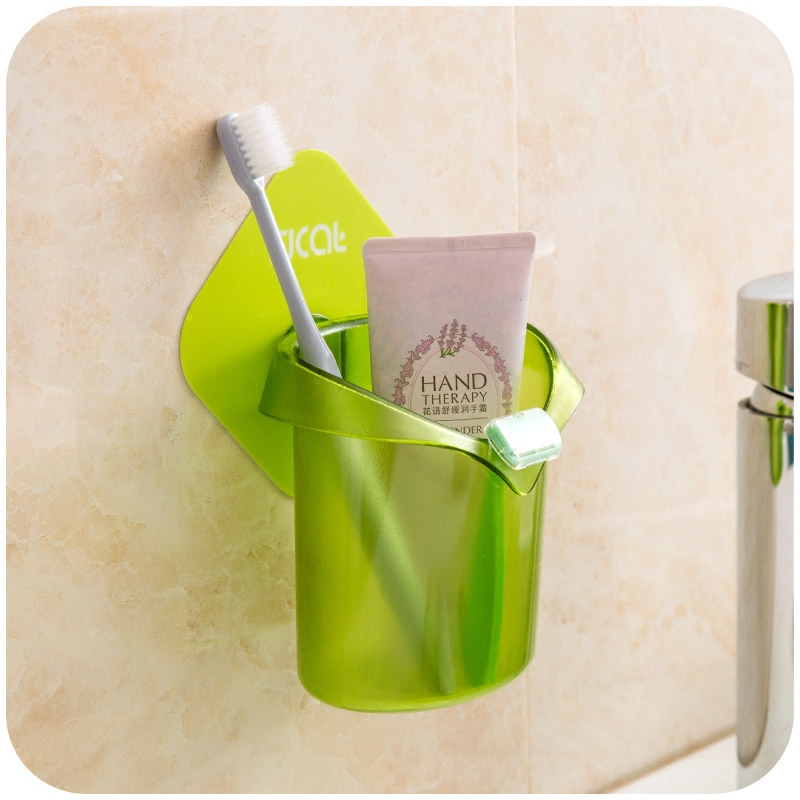 Removable cleaning Incognito Wall type bathroom storage rack shelving bathroom toothbrush holder