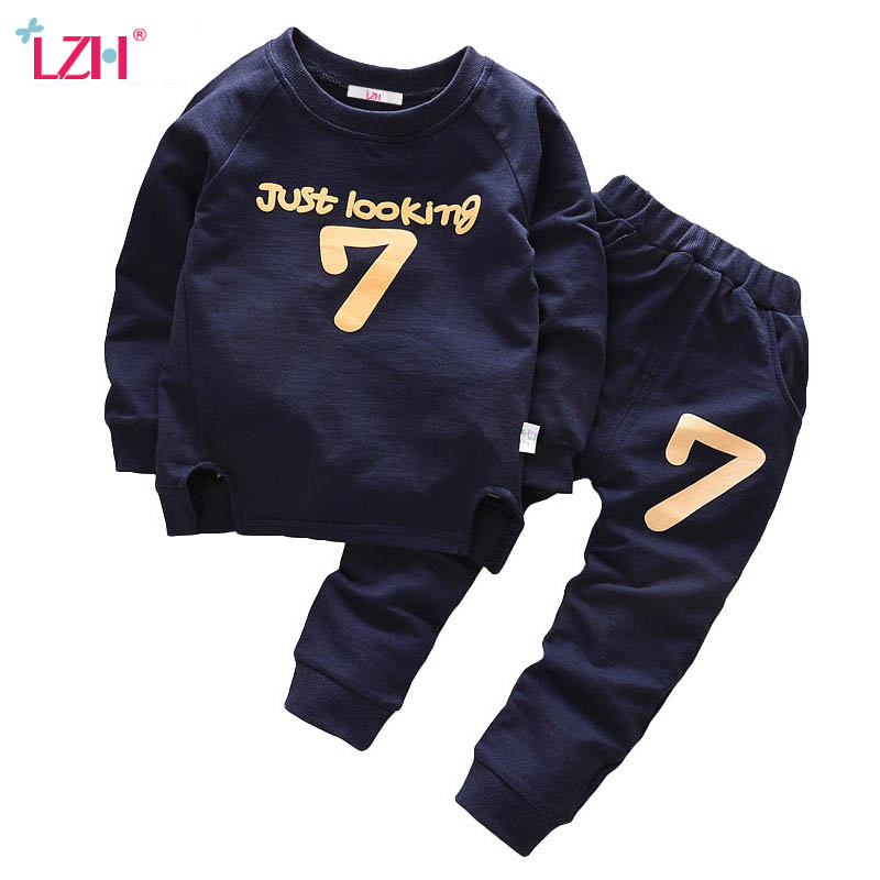 LZH Children Boys Clothes 2017 Autumn Winter Kids Girls Clothes T-shirt+Pants 2pcs Outfit Christmas Suit For Boys Clothing Ses 2015 new arrive super league christmas outfit pajamas for boys kids children suit st 004