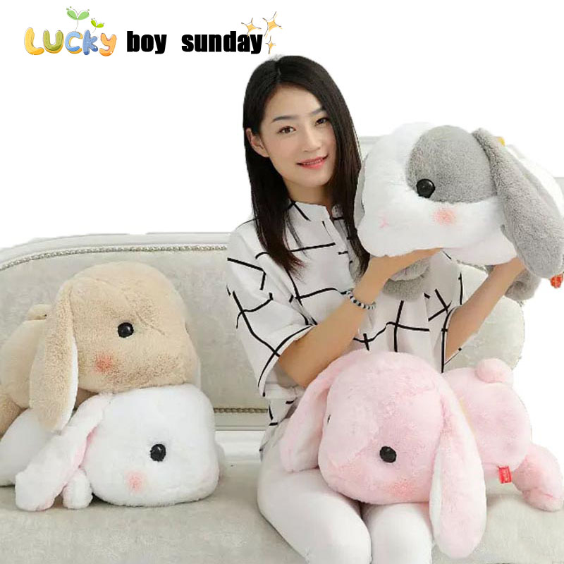 50cm Rabbit Dolls Plush Classical Lying Bunny Rabbit Toy Amuse Lolita Loppy rabbit Kawaii Plush Pillow for Kids Friend Girls 1pc 16cm mini kawaii animal plush toy cute rabbit owl raccoon panda chicken dolls with foam partical kids gift wedding dolls