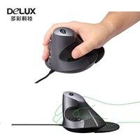 Delux M618XU Проводной Эргономичный Вертикальный Мыши USB Вертикальные Лазерная Комфорт Мышь С Розничной Упаковке