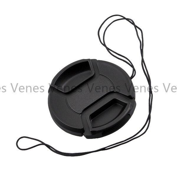 VENES 50 pçs/lote lens cap com 49mm, Nenhuma palavra com pitada oriente capa 49mm, centro Pitada Lens Cap