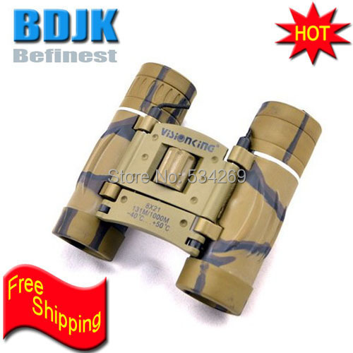 8X21mm Hand Camouflage Folding Binoculars Telescope 129M Fieldof View Free Shipping 10x25mm mini folding binoculars telescope 101m fieldof view with tripod adaptor free shipping