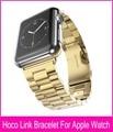 3 указатели золото металлический ремешок для часов для носо яблоко часы ссылка ремешка 42 мм 38 мм с нержавеющей стали 316L оригинальный адаптер