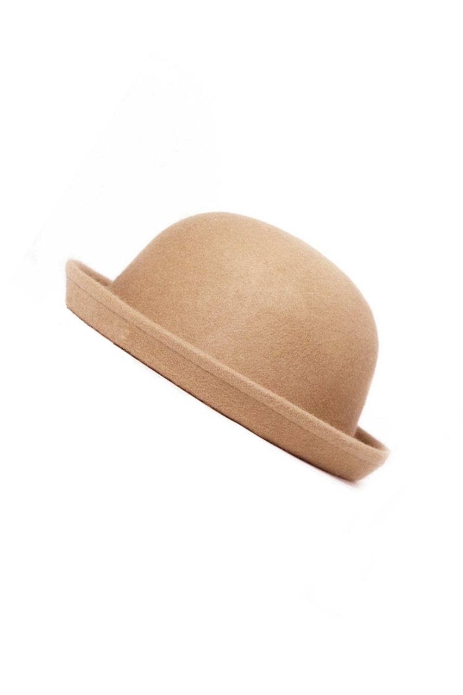 ad5db73cdeb MAKE Hot Fashion Vintage Men Women Fedoras Dome Hat Roll Brim Bowler Derby  Hat Unisex Headwear Light tan