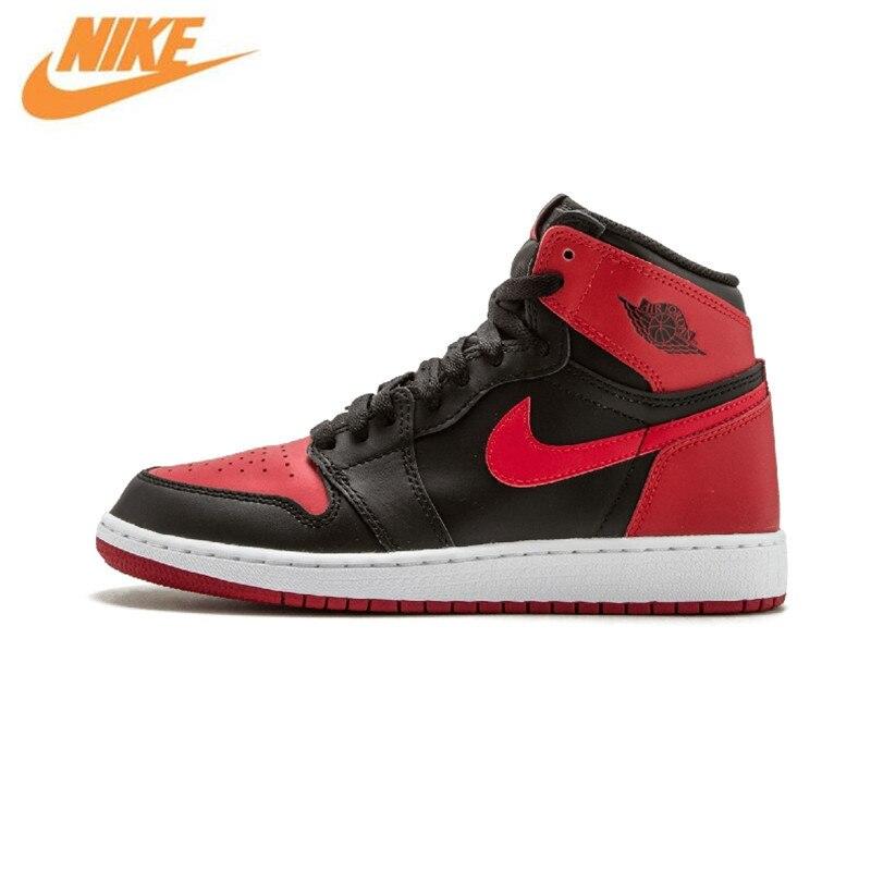 Nike Air Jordan 1 OG запрещено дышащая Для Мужчин's Баскетбольные кеды спортивные Спортивная обувь кроссовки 575441-001 575441-010