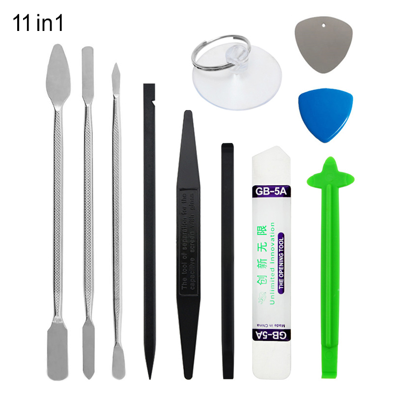UANME 11in1 Metal Spudger Set Nylon Opener for iPhone Tablet Computer Pry Opening Tools Mobile Phone Repair Tools Kit in Hand Tool Sets from Tools