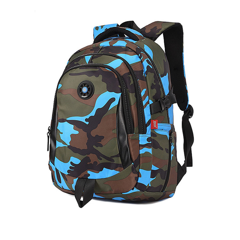 Image 3 - 3 Sizes Camouflage Waterproof Nylon School Bags for Girls Boys Orthopedic Children Backpack Kids Bag Grade 1   6 Mochila Escolar-in School Bags from Luggage & Bags