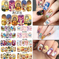 DULCE TENDENCIA 48 Hojas Animal/Molino de Viento/de la Pluma/Butterfly Nail Art Water Transfer Stickers Decals Manicura Completa Wraps A1273-1320